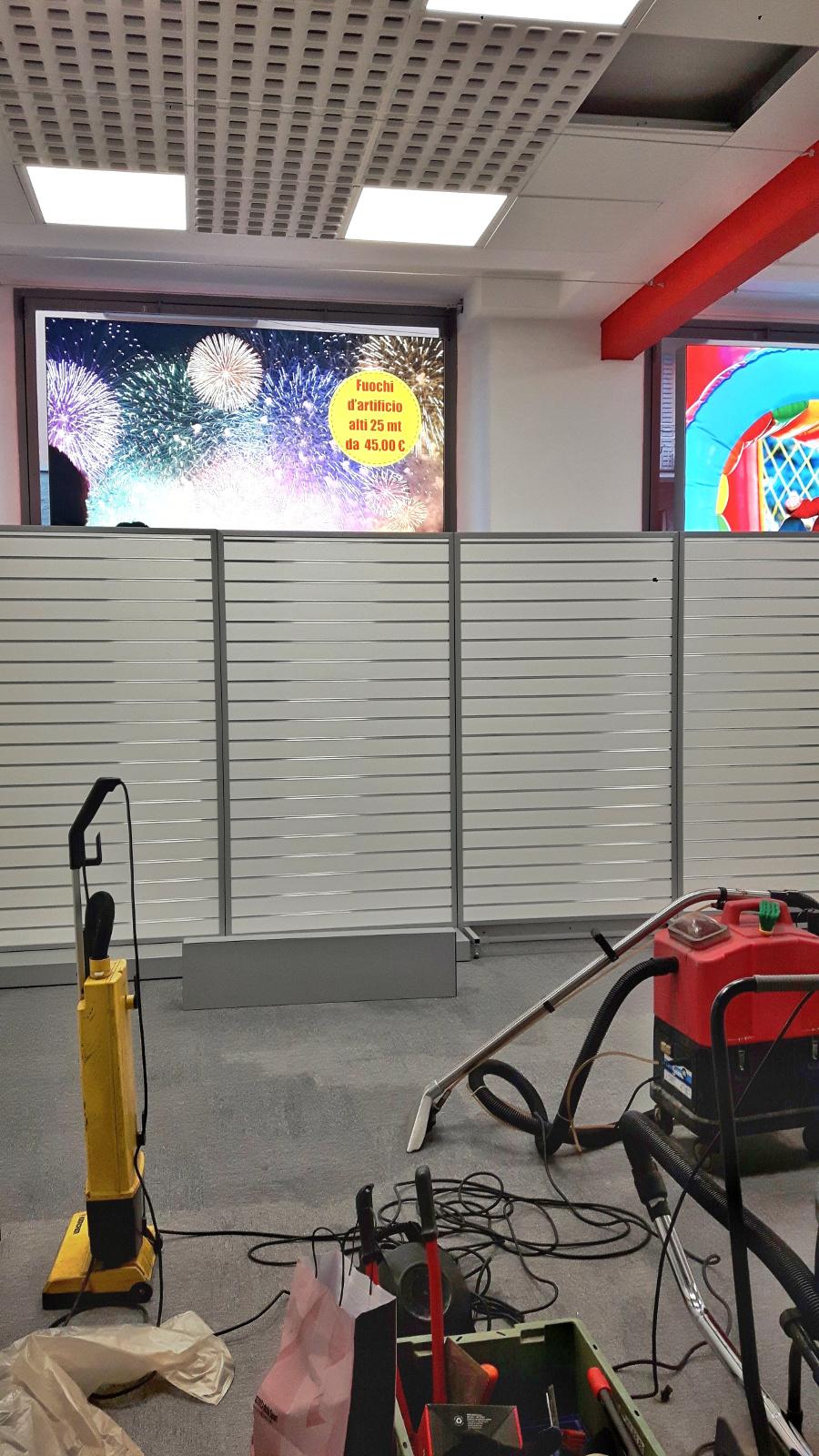 Servizi di pulizia per grandi magazzini